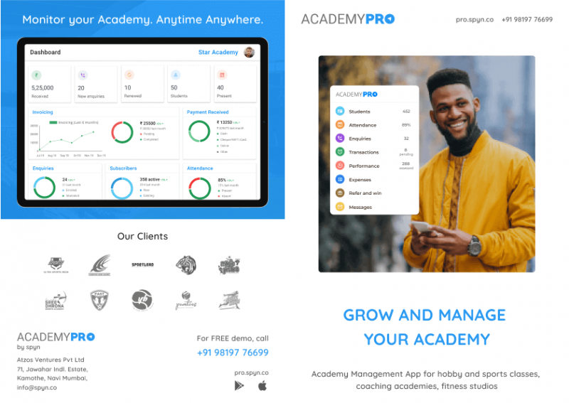 AcademyPRO brochure cover