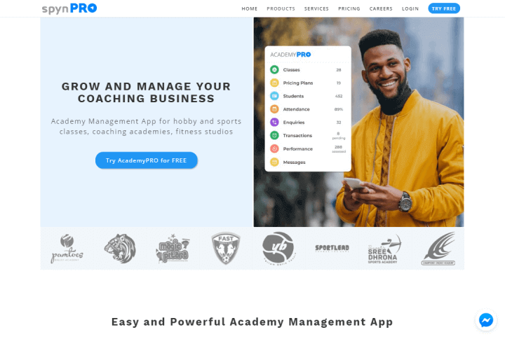 AcademyPRO landing page